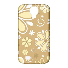 Flower Floral Star Sunflower Grey Samsung Galaxy S4 Classic Hardshell Case (pc+silicone) by Mariart