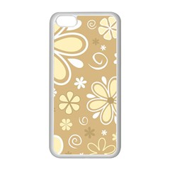 Flower Floral Star Sunflower Grey Apple Iphone 5c Seamless Case (white) by Mariart