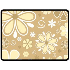 Flower Floral Star Sunflower Grey Double Sided Fleece Blanket (large)  by Mariart