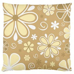 Flower Floral Star Sunflower Grey Large Flano Cushion Case (one Side) by Mariart
