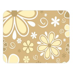 Flower Floral Star Sunflower Grey Double Sided Flano Blanket (large)  by Mariart