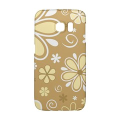 Flower Floral Star Sunflower Grey Galaxy S6 Edge by Mariart