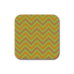 Zig Zags Pattern Rubber Square Coaster (4 Pack)  by Valentinaart