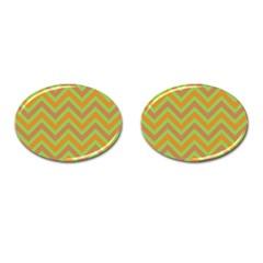 Zig Zags Pattern Cufflinks (oval) by Valentinaart