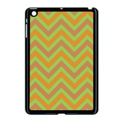 Zig Zags Pattern Apple Ipad Mini Case (black) by Valentinaart