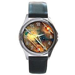 Light Space Round Metal Watch