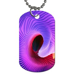 Digital Art Spirals Wave Waves Chevron Red Purple Blue Pink Dog Tag (two Sides) by Mariart