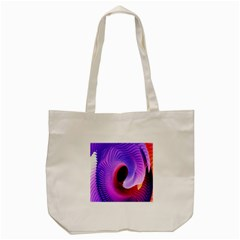 Digital Art Spirals Wave Waves Chevron Red Purple Blue Pink Tote Bag (cream) by Mariart