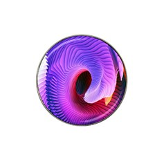 Digital Art Spirals Wave Waves Chevron Red Purple Blue Pink Hat Clip Ball Marker (4 Pack) by Mariart