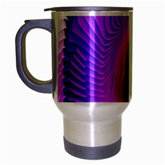 Digital Art Spirals Wave Waves Chevron Red Purple Blue Pink Travel Mug (silver Gray) by Mariart