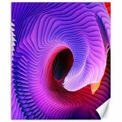 Digital Art Spirals Wave Waves Chevron Red Purple Blue Pink Canvas 20  X 24   by Mariart