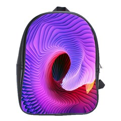 Digital Art Spirals Wave Waves Chevron Red Purple Blue Pink School Bags(large)  by Mariart