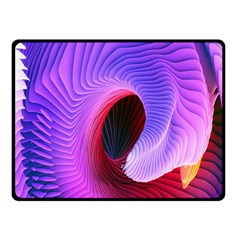 Digital Art Spirals Wave Waves Chevron Red Purple Blue Pink Fleece Blanket (small) by Mariart