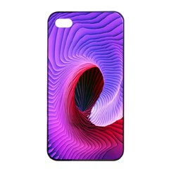 Digital Art Spirals Wave Waves Chevron Red Purple Blue Pink Apple Iphone 4/4s Seamless Case (black) by Mariart