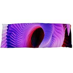 Digital Art Spirals Wave Waves Chevron Red Purple Blue Pink Body Pillow Case Dakimakura (two Sides) by Mariart