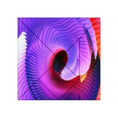 Digital Art Spirals Wave Waves Chevron Red Purple Blue Pink Acrylic Tangram Puzzle (4  X 4 ) by Mariart