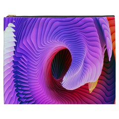 Digital Art Spirals Wave Waves Chevron Red Purple Blue Pink Cosmetic Bag (xxxl)  by Mariart