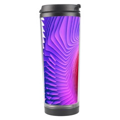 Digital Art Spirals Wave Waves Chevron Red Purple Blue Pink Travel Tumbler by Mariart