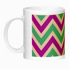 Zig Zags Pattern Night Luminous Mugs by Valentinaart