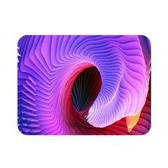 Digital Art Spirals Wave Waves Chevron Red Purple Blue Pink Double Sided Flano Blanket (mini)  by Mariart