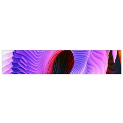 Digital Art Spirals Wave Waves Chevron Red Purple Blue Pink Flano Scarf (small) by Mariart