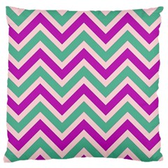 Zig Zags Pattern Large Cushion Case (two Sides) by Valentinaart