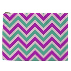 Zig Zags Pattern Cosmetic Bag (xxl)  by Valentinaart