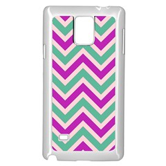Zig Zags Pattern Samsung Galaxy Note 4 Case (white) by Valentinaart