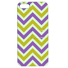 Zig Zags Pattern Apple Iphone 5 Hardshell Case With Stand by Valentinaart