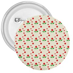 Flower Floral Sunflower Rose Star Red Green 3  Buttons by Mariart