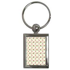 Flower Floral Sunflower Rose Star Red Green Key Chains (rectangle)  by Mariart