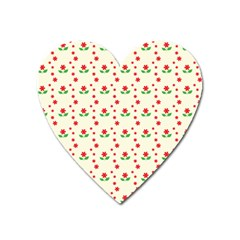 Flower Floral Sunflower Rose Star Red Green Heart Magnet by Mariart