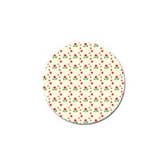 Flower Floral Sunflower Rose Star Red Green Golf Ball Marker by Mariart