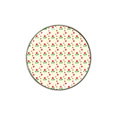 Flower Floral Sunflower Rose Star Red Green Hat Clip Ball Marker (4 Pack) by Mariart