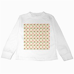 Flower Floral Sunflower Rose Star Red Green Kids Long Sleeve T Shirts by Mariart