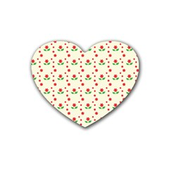 Flower Floral Sunflower Rose Star Red Green Heart Coaster (4 Pack)  by Mariart