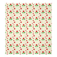 Flower Floral Sunflower Rose Star Red Green Shower Curtain 66  X 72  (large)  by Mariart