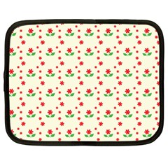 Flower Floral Sunflower Rose Star Red Green Netbook Case (xl)  by Mariart