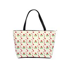 Flower Floral Sunflower Rose Star Red Green Shoulder Handbags by Mariart