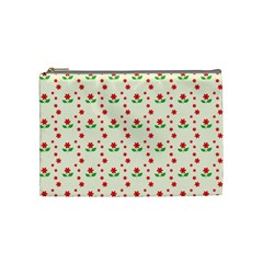 Flower Floral Sunflower Rose Star Red Green Cosmetic Bag (medium)  by Mariart