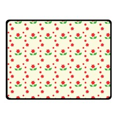 Flower Floral Sunflower Rose Star Red Green Fleece Blanket (small) by Mariart