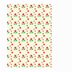 Flower Floral Sunflower Rose Star Red Green Large Garden Flag (two Sides) by Mariart
