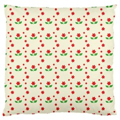Flower Floral Sunflower Rose Star Red Green Large Cushion Case (one Side) by Mariart