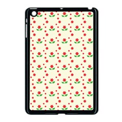 Flower Floral Sunflower Rose Star Red Green Apple Ipad Mini Case (black) by Mariart