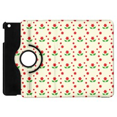 Flower Floral Sunflower Rose Star Red Green Apple Ipad Mini Flip 360 Case by Mariart