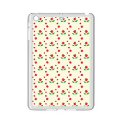 Flower Floral Sunflower Rose Star Red Green Ipad Mini 2 Enamel Coated Cases by Mariart