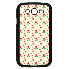 Flower Floral Sunflower Rose Star Red Green Samsung Galaxy Grand Duos I9082 Case (black) by Mariart