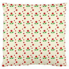 Flower Floral Sunflower Rose Star Red Green Standard Flano Cushion Case (two Sides) by Mariart