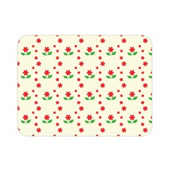 Flower Floral Sunflower Rose Star Red Green Double Sided Flano Blanket (mini)  by Mariart