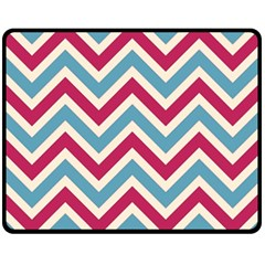 Zig Zags Pattern Fleece Blanket (medium)  by Valentinaart